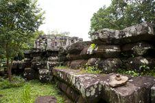 Free Khmer Art  Wat Phra That Phu Phek Stock Photography - 26262732