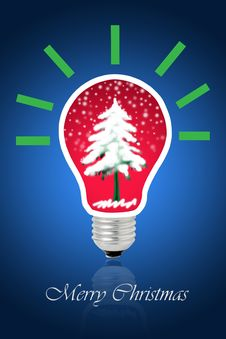 Free Christmas Tree Light Bulb Royalty Free Stock Photo - 26265605
