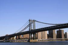 Free Manhattan Bridge Stock Image - 26265911
