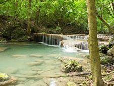 Free Erawan Waterfall Stock Photography - 26266742