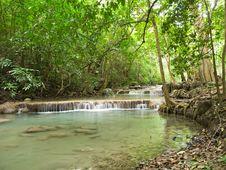 Free Erawan Waterfall Stock Photography - 26266762