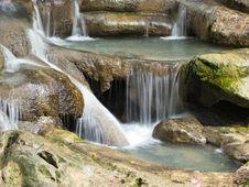 Free Erawan Waterfall Royalty Free Stock Photos - 26267058