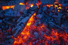 Burning Coals Royalty Free Stock Photos
