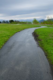 Free Road With Green Grass Royalty Free Stock Images - 26272709