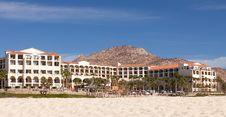 Beachfront Hotel In Cabo San Lucas, Mexico Stock Photography