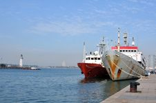 Tankers Parked In The Dock Stock Image