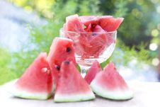 Free Fresh Watermelon Tasty Dessert Royalty Free Stock Images - 26281389