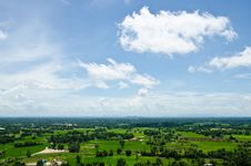 Free Aerial View Of A Rural Region And Farmland. Royalty Free Stock Photos - 26282198