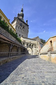 Free Sighisoara Road To Ancient Stock Images - 26283004