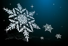 Free Snowflake On Blue Stock Images - 26283124