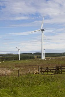 Free Wind Turbine Farm. Royalty Free Stock Image - 26284166