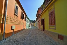 Free Sighisoara Yellow Green Royalty Free Stock Image - 26284776