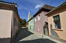 Free Sighisoara Citadel Street Royalty Free Stock Photo - 26284895