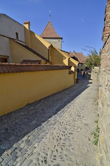 Free Sighisoara Tower Street Royalty Free Stock Photo - 26285225