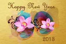 Free Happy New Year 2013 Stock Photography - 26285392