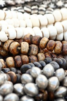 Large Wooden Beads Royalty Free Stock Image