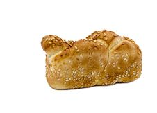 Loaf Of Challah Isolated On White Royalty Free Stock Images