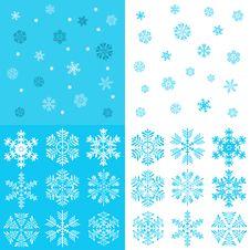 Uzornye Snowflakes Royalty Free Stock Photo