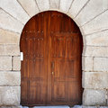 Free Wooden Gate In Segovia Royalty Free Stock Photography - 26297347