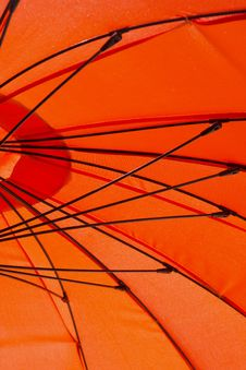 Free Orange Umbrella Royalty Free Stock Photo - 26290395