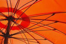 Free Orange Umbrella Stock Photography - 26290622