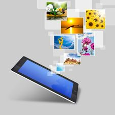 Free Realistic Tablet Pc Computer With Blank Screen Royalty Free Stock Photo - 26291345