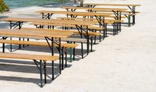 Free Wooden Benches And Tables Stock Photo - 26291710