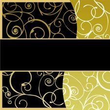 Golden Frame Background Royalty Free Stock Photos