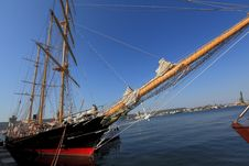 Free Sailing Ship In Port Stock Image - 26295341