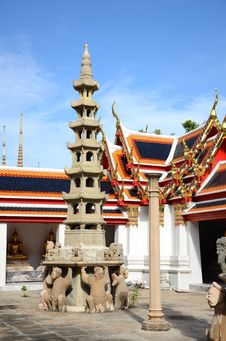 Free Chinese Chedi At Wat Pho, Bangkok. Royalty Free Stock Image - 26295476