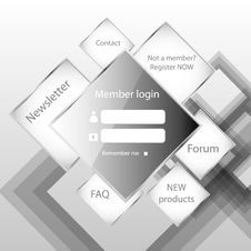 Free Modern Web Card  Form Royalty Free Stock Photography - 26297837