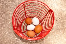 Free Eggs In Basket Stock Photo - 26299690