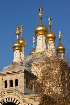 Free Orthodox Church Cupolas Royalty Free Stock Photo - 2630585
