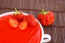 Jelly Strawberry Stock Photos