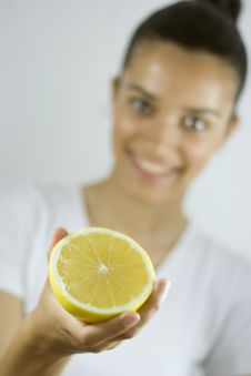 Free Girl Holding Grapefruit Stock Images - 2631214