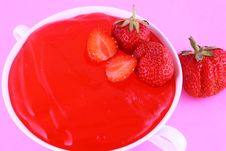 Jelly Strawberry Stock Image