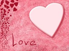 Free Card With Love Stock Photography - 2631432