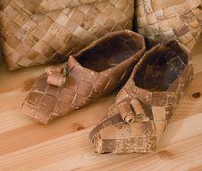 Free Finnish Birch-bark Shoes Stock Photography - 2631562
