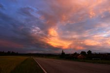 Free Sunset In Bavaria Stock Photo - 2631920