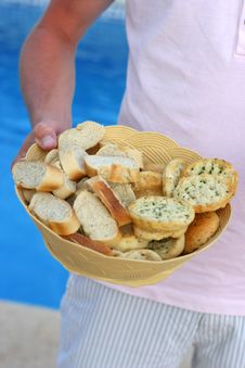 Free Basket Of Bread Stock Photography - 2633482