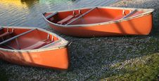 Free Canoes In The Morning Light Stock Photo - 2637760
