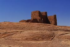Free Wukoki Indian Pueblo Ruins Royalty Free Stock Photography - 2638127