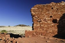 Free Lomaki Indian Pueblo Ruin Wall Royalty Free Stock Image - 2638216