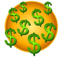 Free Lots Of Dollar Signs Clip Art Stock Photo - 2638220