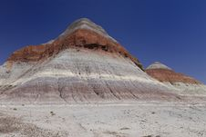 Free Painted Desert Tepees Royalty Free Stock Photos - 2638248