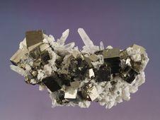 Free Pyrite-Calcite-Quartz 1 Royalty Free Stock Photography - 2638757