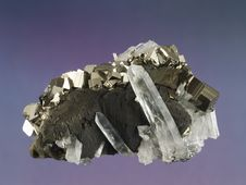Free Pyrite-Quartz 1 Royalty Free Stock Photo - 2638835
