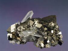 Free Pyrite-Quartz 2 Stock Image - 2638841