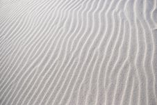 Free Texture On The White Sand Stock Images - 2639234