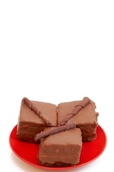 Free Three Chocolate Mini Cakes Royalty Free Stock Photo - 2639535